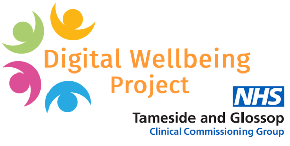 Digital Wellbeing Project and NHS logo